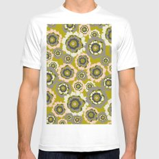 Floral3 White Mens Fitted Tee MEDIUM