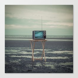 Who Needs Paradise When You Can Watch It On TV? Canvas Print