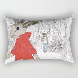 A Wolf met her 2 Rectangular Pillow