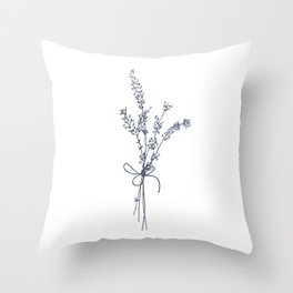 Lovely Lavender Bunch Throw Pillow