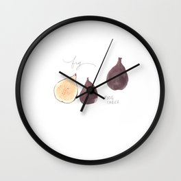 Fig Watercolor Illustration Wall Clock