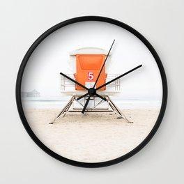 Orange Tower 5 Wall Clock