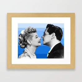 lucy and desi blue Framed Art Print
