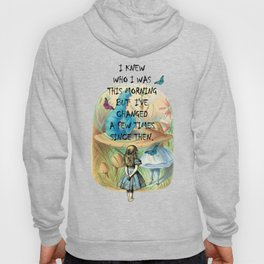 Alice In Wonderland Quote Hoody