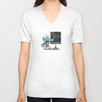 attack on titan V-neck T-shirts featuring Attack on Titan Smurf Edition by Purrdemonium