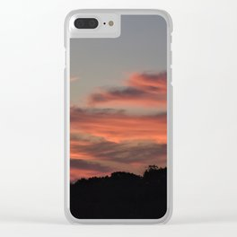 Stormy Sunrise Clear iPhone Case