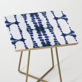 Boho Tie-Dye Knit Vertical Side Table