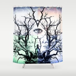 Tree Vision of Symmetry Shower Curtain