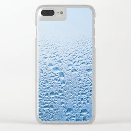 Condensation drops on glass Clear iPhone Case