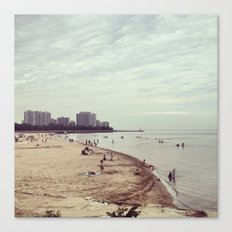 Foster Beach in Chicago Canvas Print
