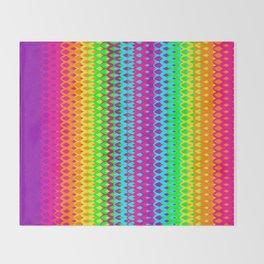Hippy Rainbow Heaven Throw Blanket