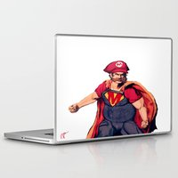 super mario Laptop & iPad Skins featuring Super Mario by Mastodon
