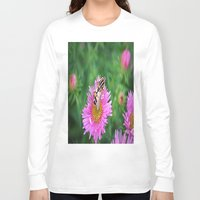 bee Long Sleeve T-shirts featuring bee by  Agostino Lo Coco