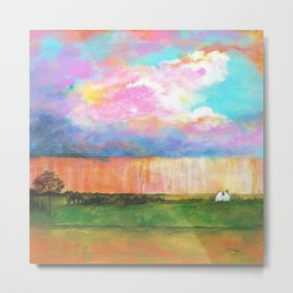 April Showers, Abstract Landscape Metal Print