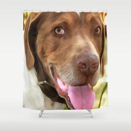 Arthur The Hunting Dog Shower Curtain