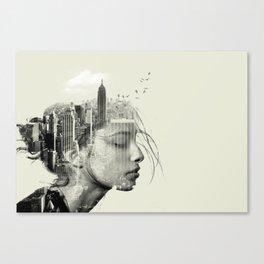 New York City reflection Canvas Print