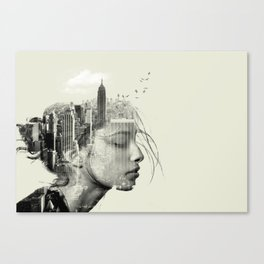 New York City reflection Canvas Print