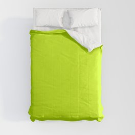 Bright green lime neon color Comforters