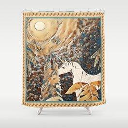 """Unicorn Love"" Shower Curtain"