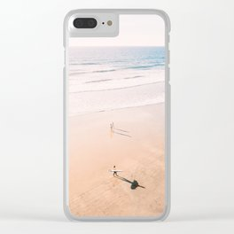 Surf Stroll Clear iPhone Case