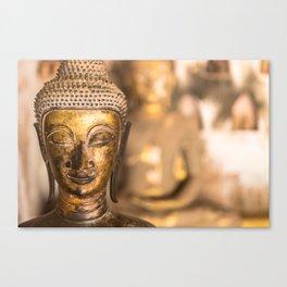 Wat Si Saket Buddhas X, Vientiane, Laos Canvas Print