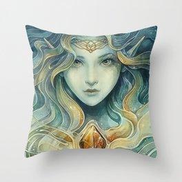 Snowqueen Throw Pillow