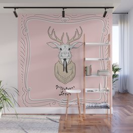 Epistolarus Lepus (pale pink) Wall Mural