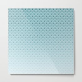 Sky-blue geometric pattern Metal Print