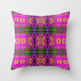 Electric Skull Pattern II Throw Pillow