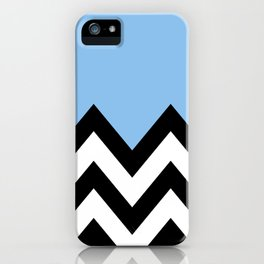 BLUE COLORBLOCK CHEVRON iPhone Case