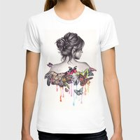 butterfly T-shirts featuring Butterfly Effect by KatePowellArt