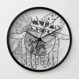 Hand Abstract Wall Clock