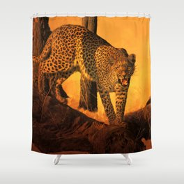 Hot Time In The Jungle Shower Curtain