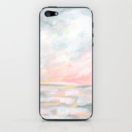 Overwhelm - Pink and Gray Pastel Seascape iPhone Skin