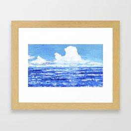 Infinite blue Framed Art Print