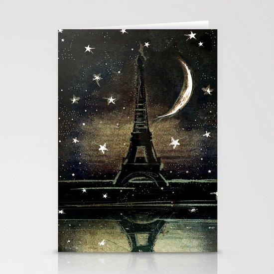 Paris Midnight Stationery Cards