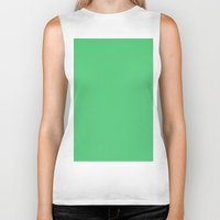 emerald Biker Tanks featuring Emerald by List of colors