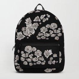 sempervivum on black background Backpack