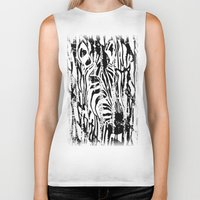 safari Biker Tanks featuring Zebra Safari by Alan Hogan