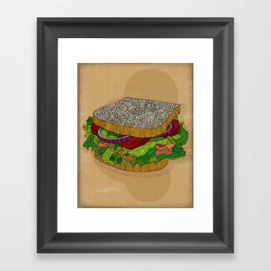 Sanduchito Framed Art Print