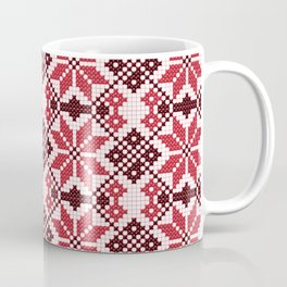 Romanian Traditional Embroidery - Red Coffee Mug