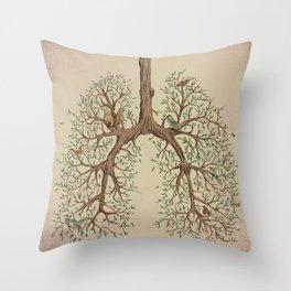 Breathe! Throw Pillow