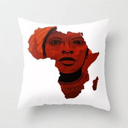 Mother Africa 2 Throw Pillow