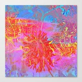 Neon Splat Abstract Canvas Print