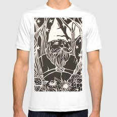 Gnome MEDIUM White Mens Fitted Tee