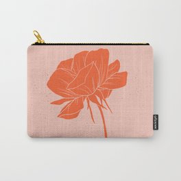 Red-Orange Peony Carry-All Pouch