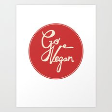 Go vegan Art Print