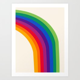 Groovy - rainbow 70s 1970s style retro throwback minimal happy hippie art decor Kunstdrucke