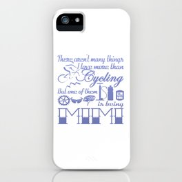 Cycling Mimi iPhone Case