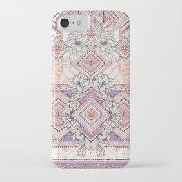 Aztec Lines Floral iPhone Case